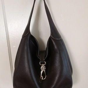 Dooney & Bourke Leather Hobo w Logo Lock